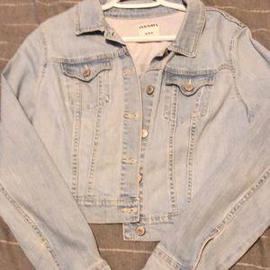 Cropped jean jacket never worn